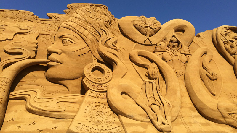Sandskulpturfestival og Lemvigbanen